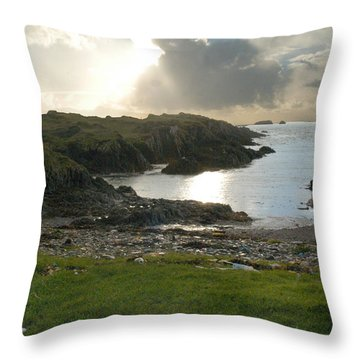 Irish Coast Of County Cork Throw Pillow by Diane Lent