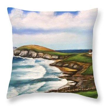 Dingle Peninsula Irish Coastline Throw Pillow