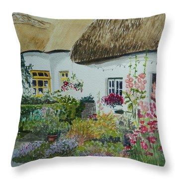 Irish Garden Throw Pillow by Betty-Anne McDonald