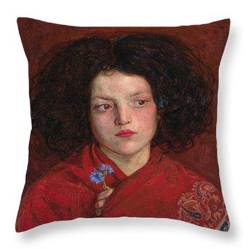 Irish Girl Throw Pillow by Philip Ralley