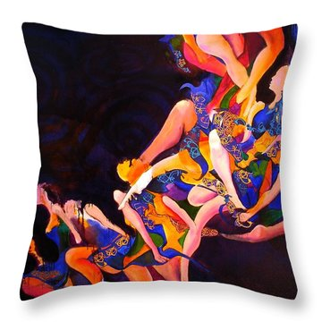 Throw Pillow featuring the painting Irish Knot by Georg Douglas