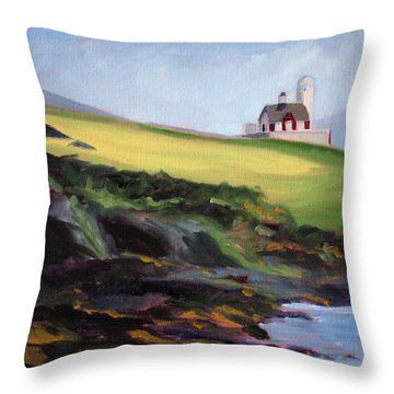 Irish Lighthouse Throw Pillow