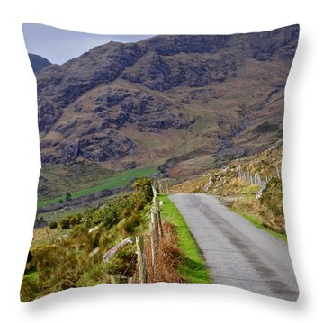 Irish Road Throw Pillow by Suzanne Oesterling