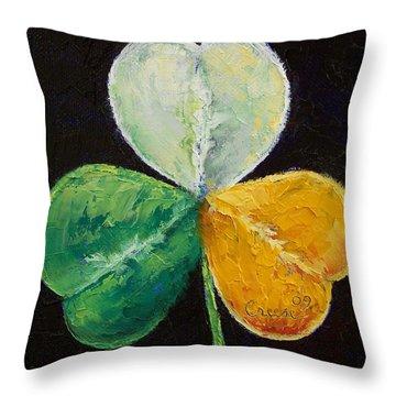 Irish Shamrock Throw Pillow by Michael Creese