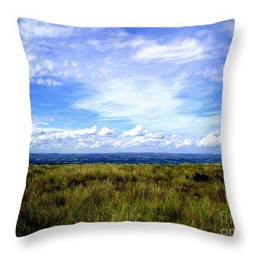 Irish Sky Throw Pillow by Nina Ficur Feenan