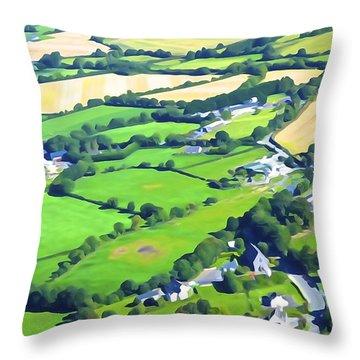 Irish Skyscape Throw Pillow
