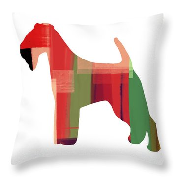 Irish Terrier Throw Pillow by Naxart Studio