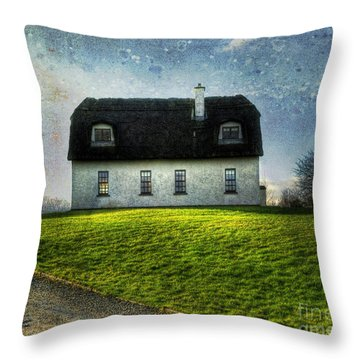 Irish Thatched Roofed Home Throw Pillow