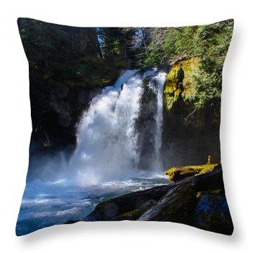 Iron Creek Falls Throw Pillow by Tikvah's Hope