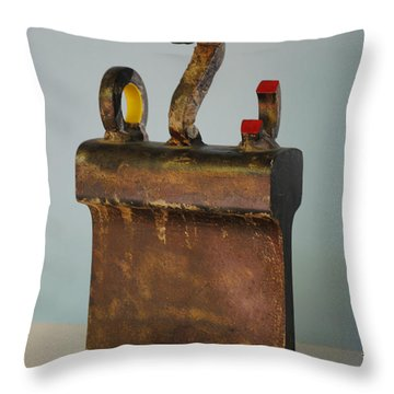 Iron John Henry I Throw Pillow by Tom Wright