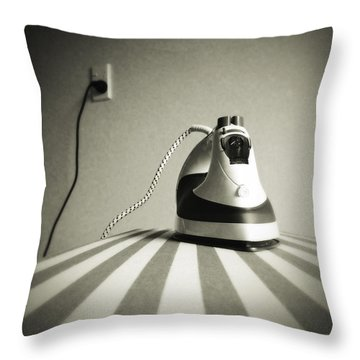 Throw Pillow featuring the photograph Iron by Les Cunliffe