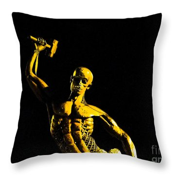 Iron Man II Throw Pillow by Al Bourassa