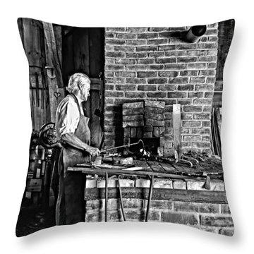 Iron Man Monochrome Throw Pillow by Steve Harrington