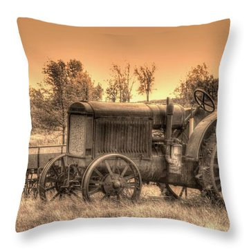 Iron Workhorse Throw Pillow by Aliceann Carlton