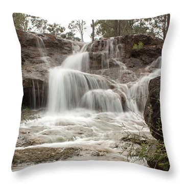 Ironstone Gully Falls 1 Throw Pillow