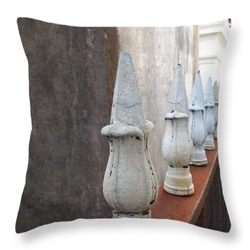 Throw Pillow featuring the photograph Ironwork by Beth Vincent