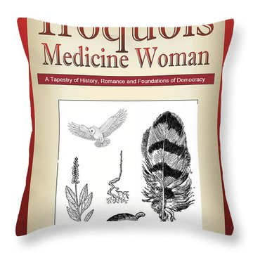 Iroquois Cover Art Throw Pillow by Nola Lee Kelsey