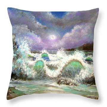 Throw Pillow featuring the painting Irresistible Force  by Patrice Torrillo