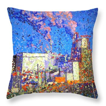 Irving Pulp Mill II Throw Pillow