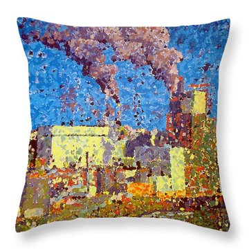 Irving Pulp Mill Throw Pillow