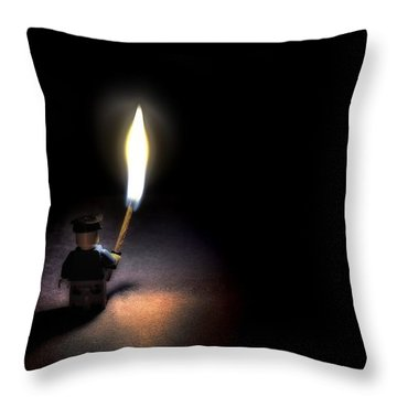 Is Anyone Out There Throw Pillow