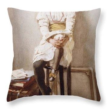 Is It Time Throw Pillow by John Henry Henshall