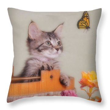 Is That Flower Flying? Throw Pillow by Kenny Francis