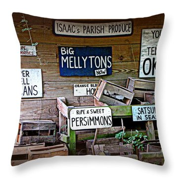 Isaac's Parish Produce Throw Pillow