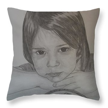 Isabella Throw Pillow by Justin Moore
