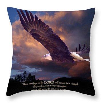 Isaiah 40 31 Throw Pillow
