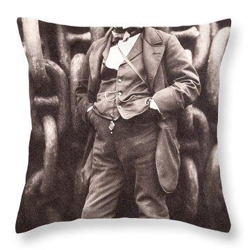 Isambard Kingdom Brunel  Throw Pillow