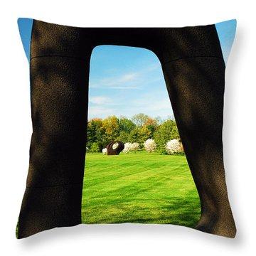 Energy Void Throw Pillow by James Kirkikis