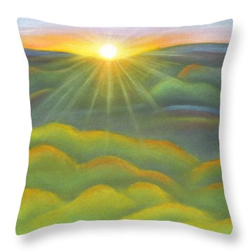 Isla Gorge Sunset Throw Pillow