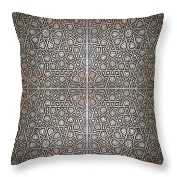 Islamic Wooden Texture Throw Pillow