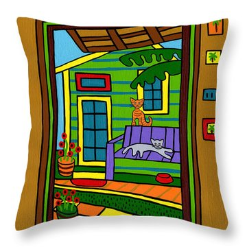 Island Arts Garden - Cedar Key Throw Pillow