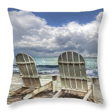 Throw Pillow featuring the photograph Island Attitude by Debra and Dave Vanderlaan