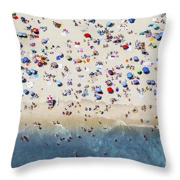 Island Beach State Park Throw Pillow