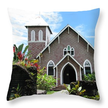 Island Church Throw Pillow