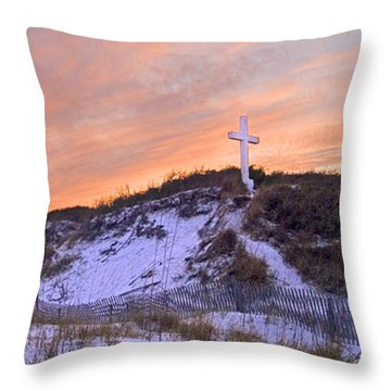 Island Cross Throw Pillow