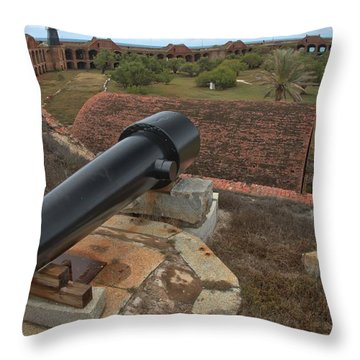 Island Defense Throw Pillow by Adam Jewell