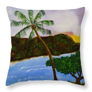 Island Escape Throw Pillow