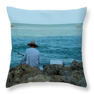 Island Fisherman Throw Pillow