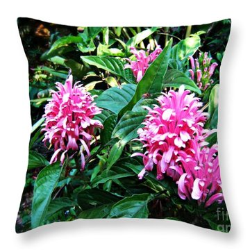 Throw Pillow featuring the photograph Island Flower by Leanne Seymour