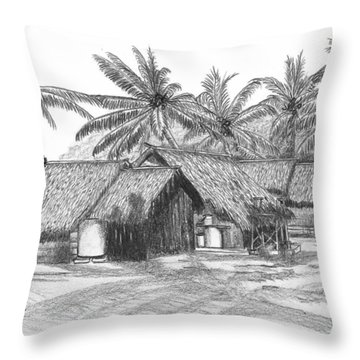 Island House 13 Throw Pillow