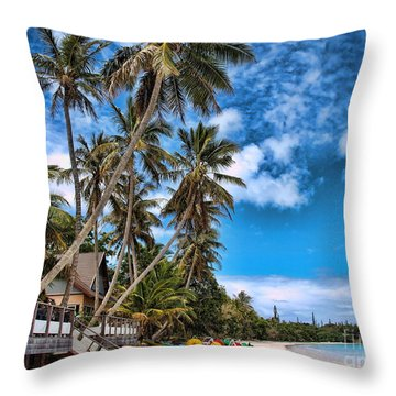 island in the Pacific Throw Pillow