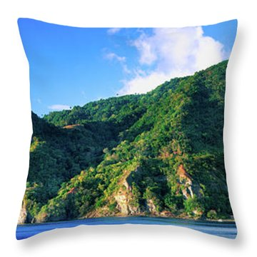 Island In The Sea, Soufriere, Saint Throw Pillow