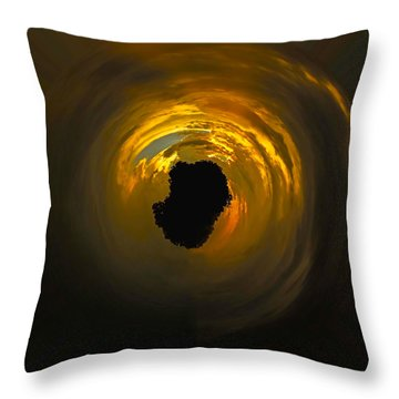Island In The Sky Throw Pillow by Gary Holmes