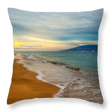 Island Morning Throw Pillow