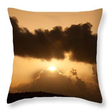 Island Morning Light Throw Pillow