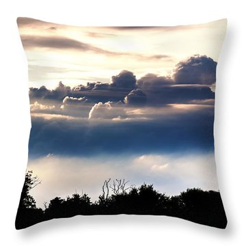 Island Of Clouds Throw Pillow